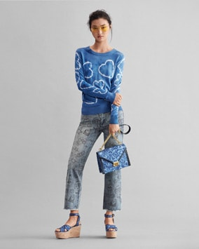 Tie-Dye Pullover, Sketch-Print Jean, Whitney Shoulder Bag, Abbott Wedge