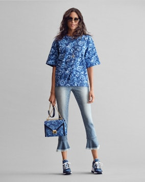 Tie-Dye Sweatshirt, Izzy Jean, Whitney Shoulder Bag, Georgie Trainer