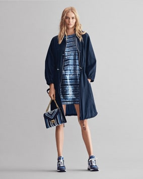 Nylon Anorak, Sequined Tie-Dye Dress, Whitney Shoulder Bag, Georgie Trainer