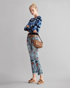 Tie-Dye Pullover, Embroidered Jean, Jolene Saddle Bag, Estelle Sandal, Belt